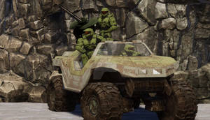 Spartans Occupying Warthog