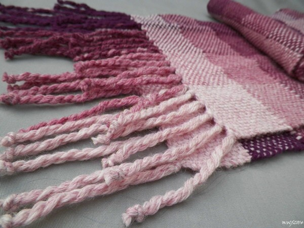 Purple Ombre Checkerboard Scarf by WolfSilverOak