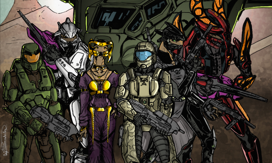 ODST_Drop_Group_Alpha by Jadeitor
