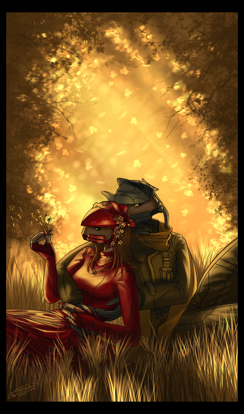 Dema and Maan - Fall by Jadeitor