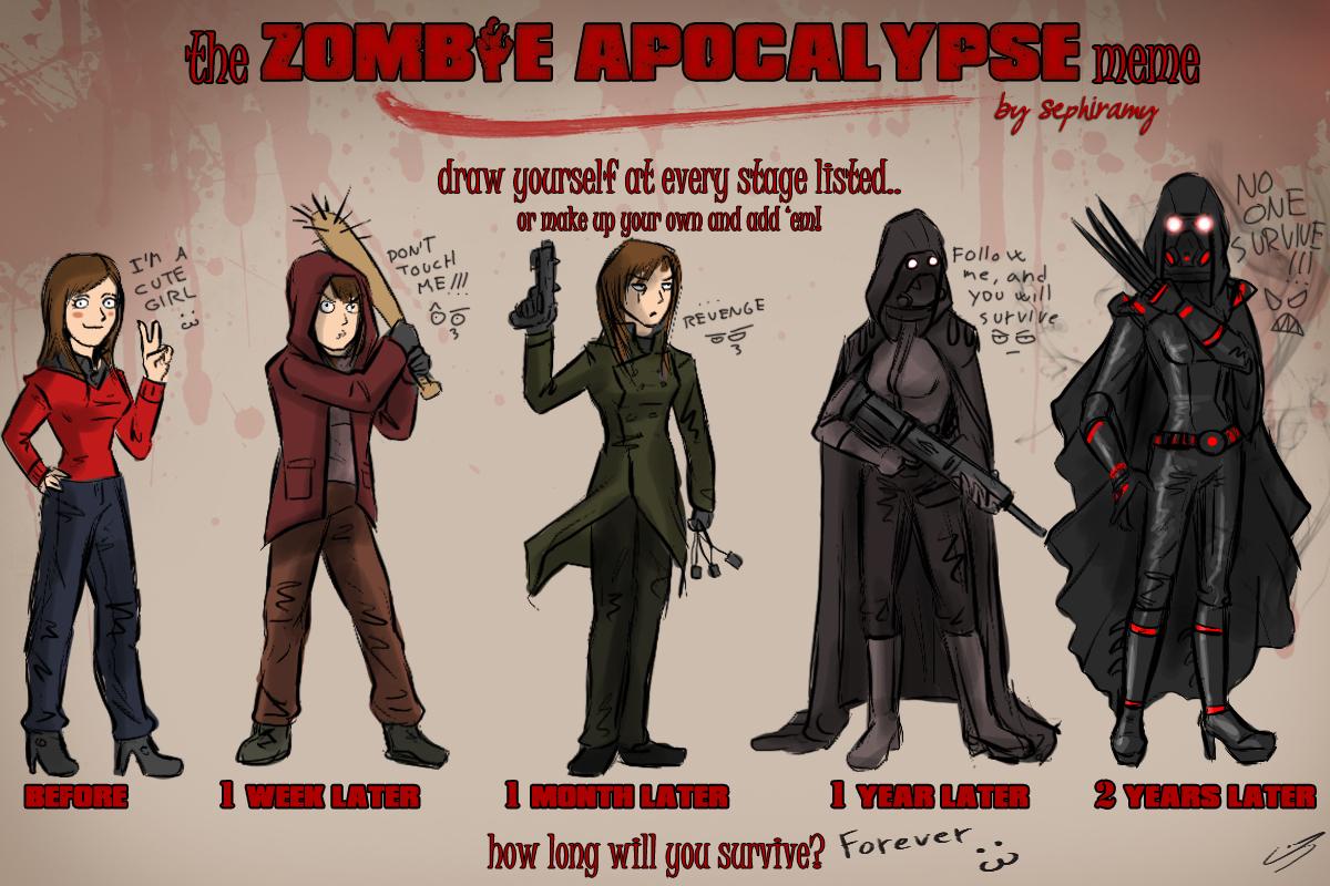 Zombie Apocalypse Meme Funny : Zombie apocalypse meme by jadeitor on deviantart