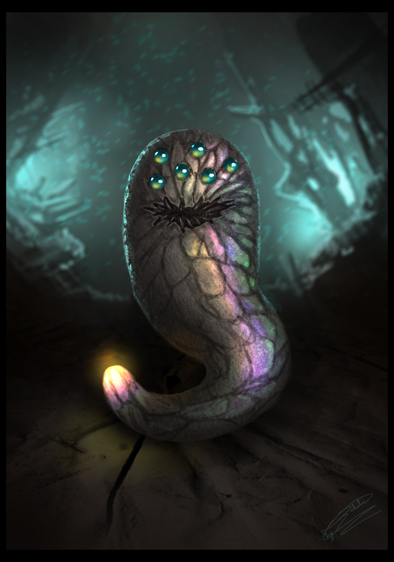 RA - Baby Mutant Worm by Jadeitor