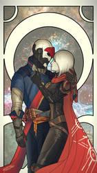 Destiny - Brawley-3 and Merethe by Jadeitor