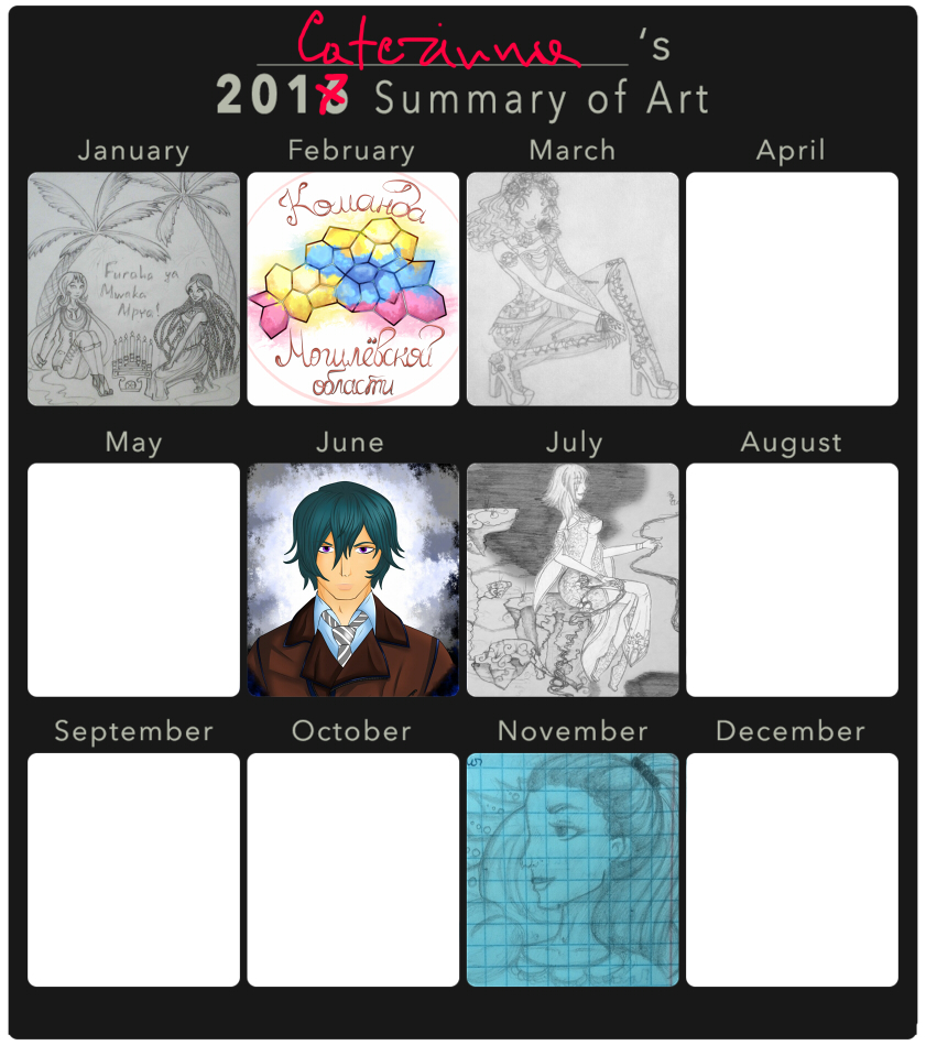 2017 Summary Of Art by Caterinna