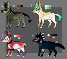 Canine Adoptables (1 Left- Price lowered!) by xeplin