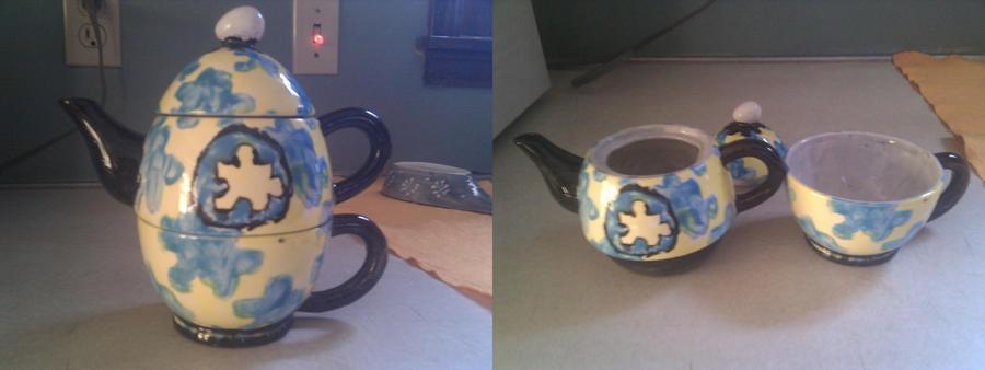 Ceramic Jiggy Teapot by master-mind777