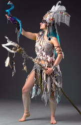 Shaman Costume Festival Outfit Horned Headdress by yolijka