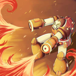 Fire Robot by Alexisvivallo