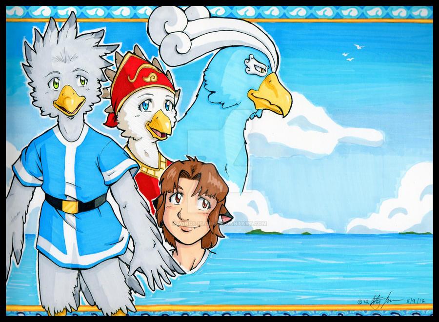 Wind Bird: Blue Horizons by Winds-Blade