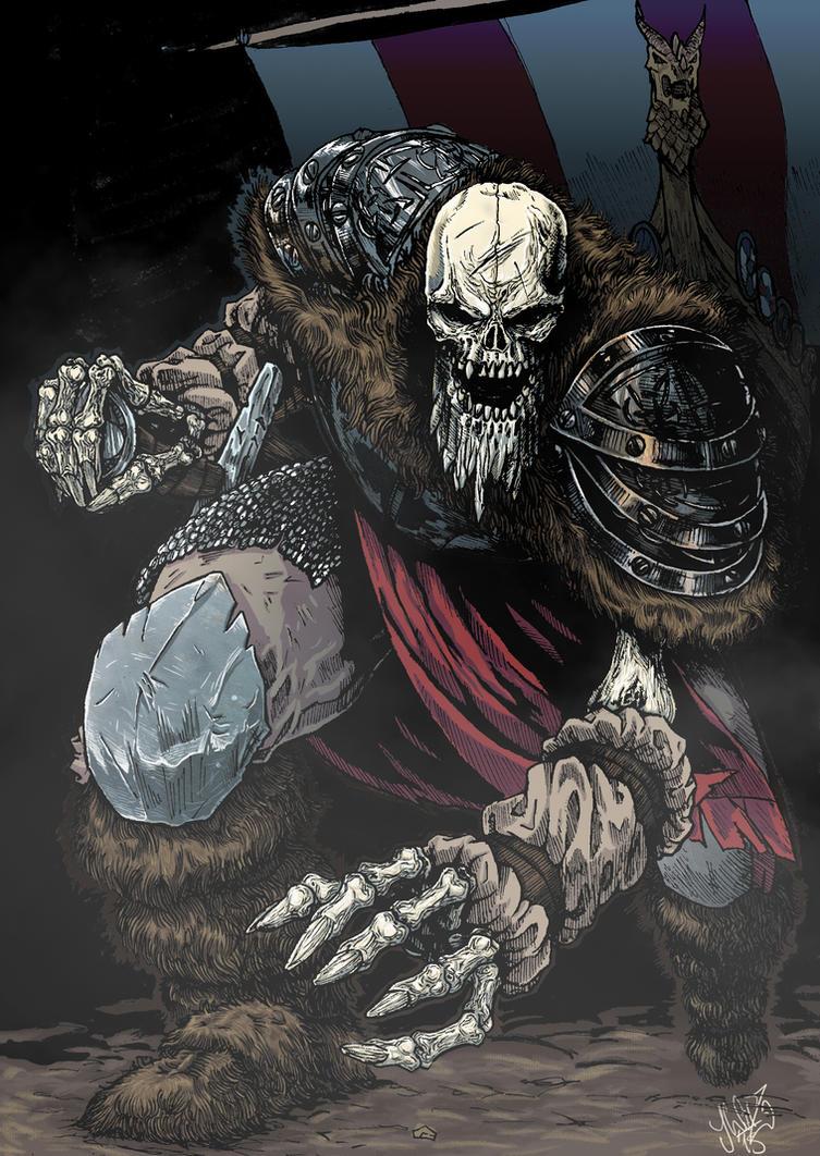 Skeletal Viking by volgailgiz