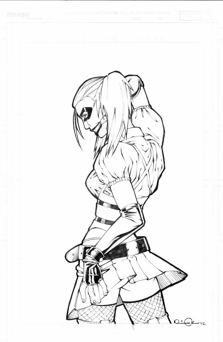 Arkham Asylum Harley by RickBas