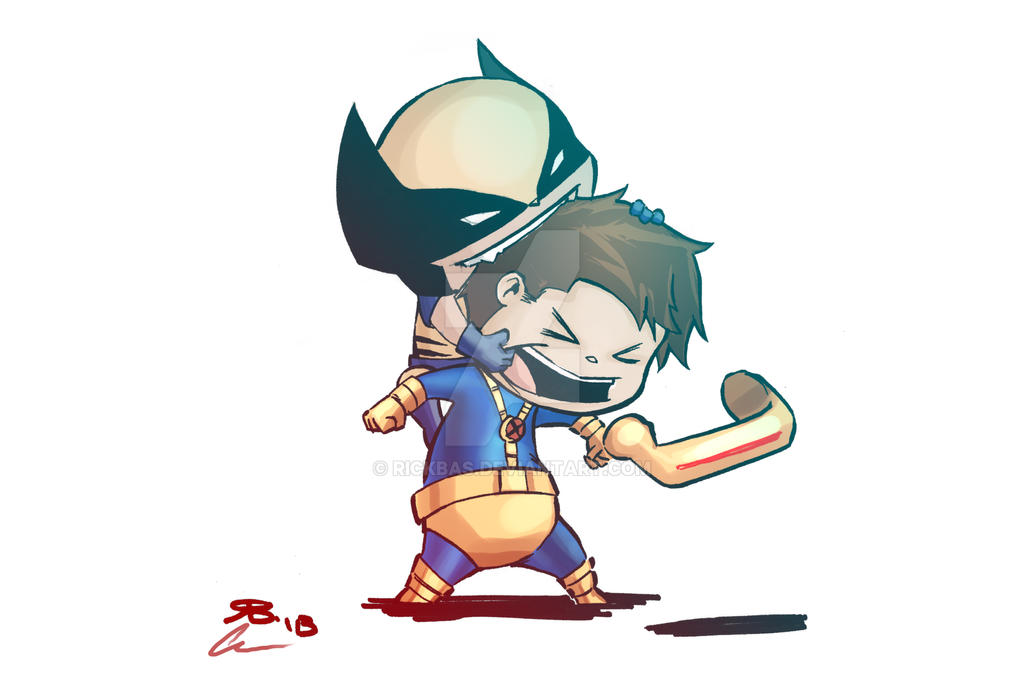 Chibi Wolverine Cyclops color by RickBas