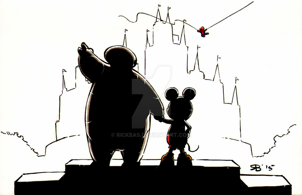 Chibi Baymax Mickey Anniversary by RickBas