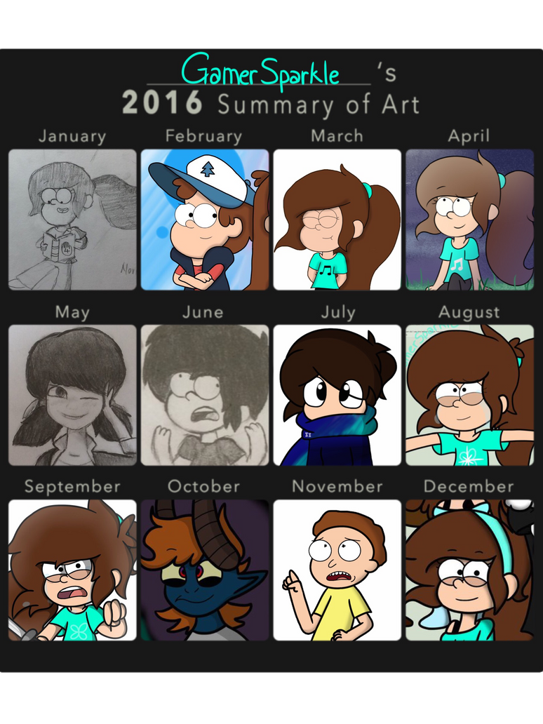 2016 Art Summary! ( One Whole Year ) by GamerSparkle