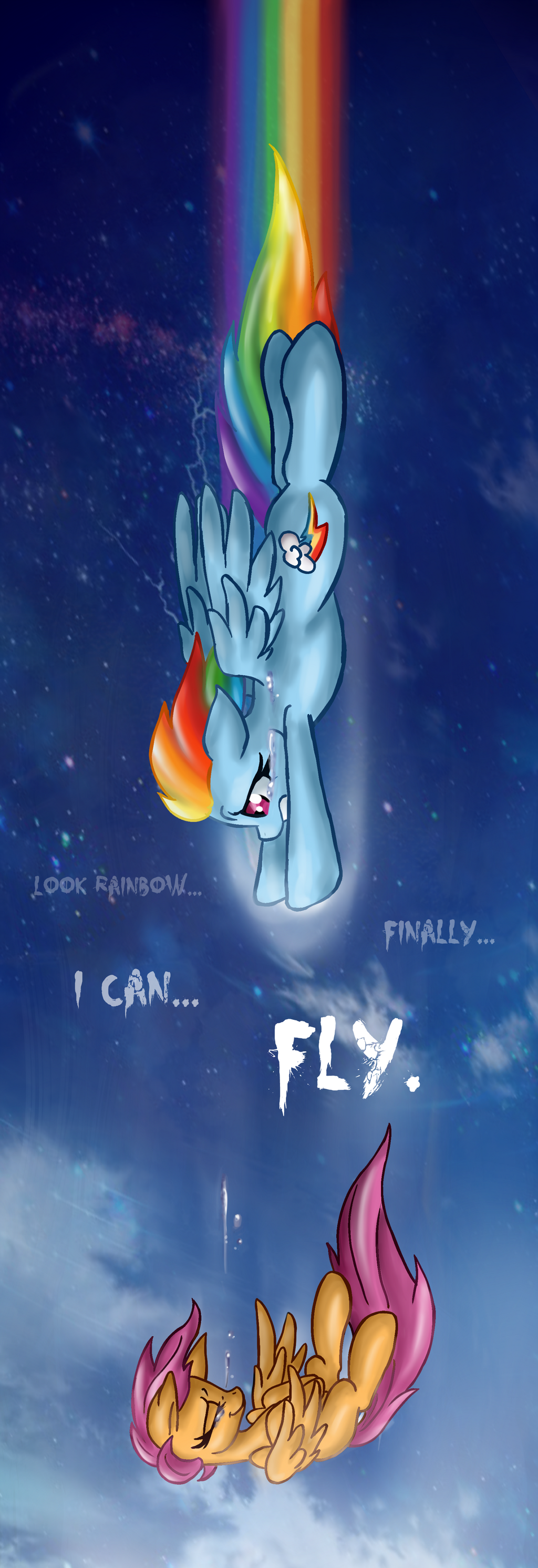 Look... Finally I can FLY... by RainbowSpine
