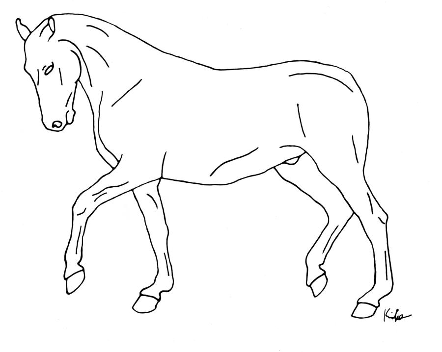 trotting horse line art 3 by kimclifford10 on DeviantArt