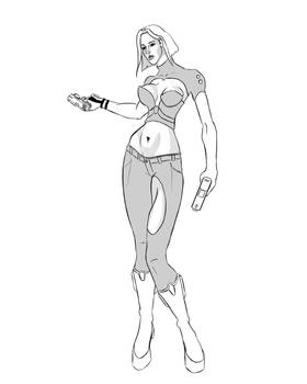 Sexy Sci Fi character pin up
