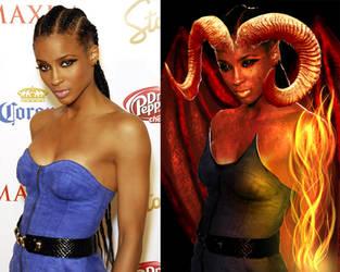 Ciara singer as Demoness by discipleneil777