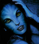 Megan Fox as navi from Avatar