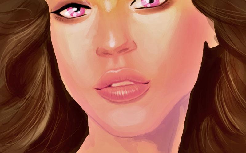 Painting lips tutorial Alba by discipleneil777