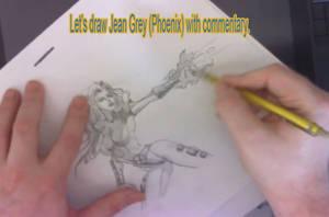 Let's Draw Jean Grey_Phoenix by discipleneil777