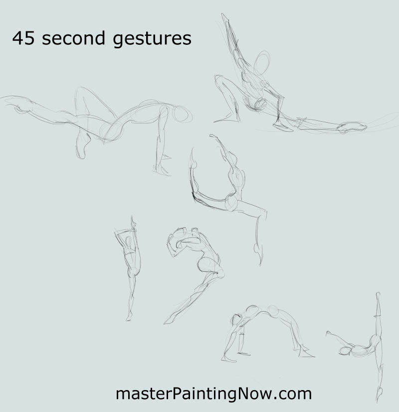 45 second gesture drawings of females by discipleneil777