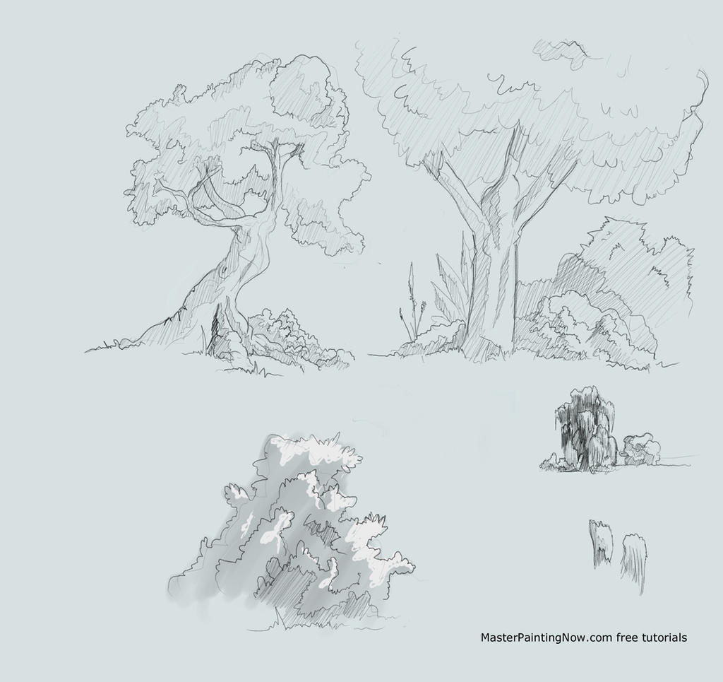 How To Draw Trees And Bushes Foric Books By Discipleneil777