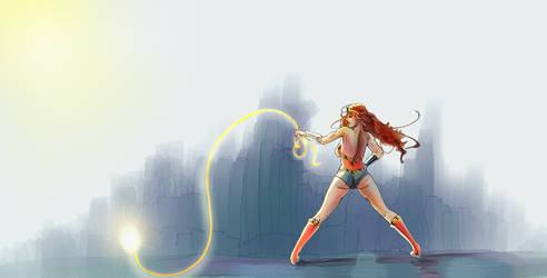 Wonder Woman speed paint - that Butt by discipleneil777