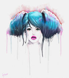 Lollipop Nurse watercolor rebelle by discipleneil777