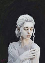 Vampire Portrait heavy impasto by discipleneil777