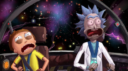 Rick and Morty 3D painterly