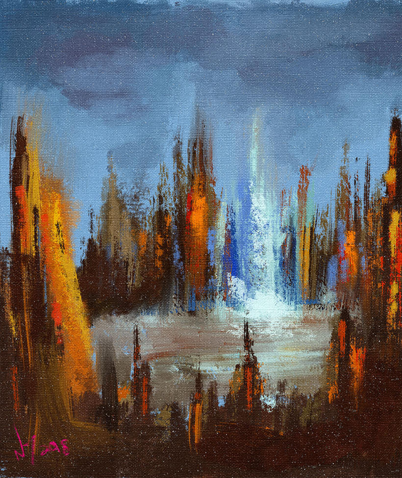 Abstract Digital Painting - City by discipleneil777