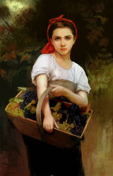 Harvester - William Bouguereau - my reproduction