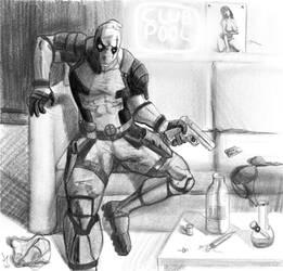 Deadpool Paintstorm pencil