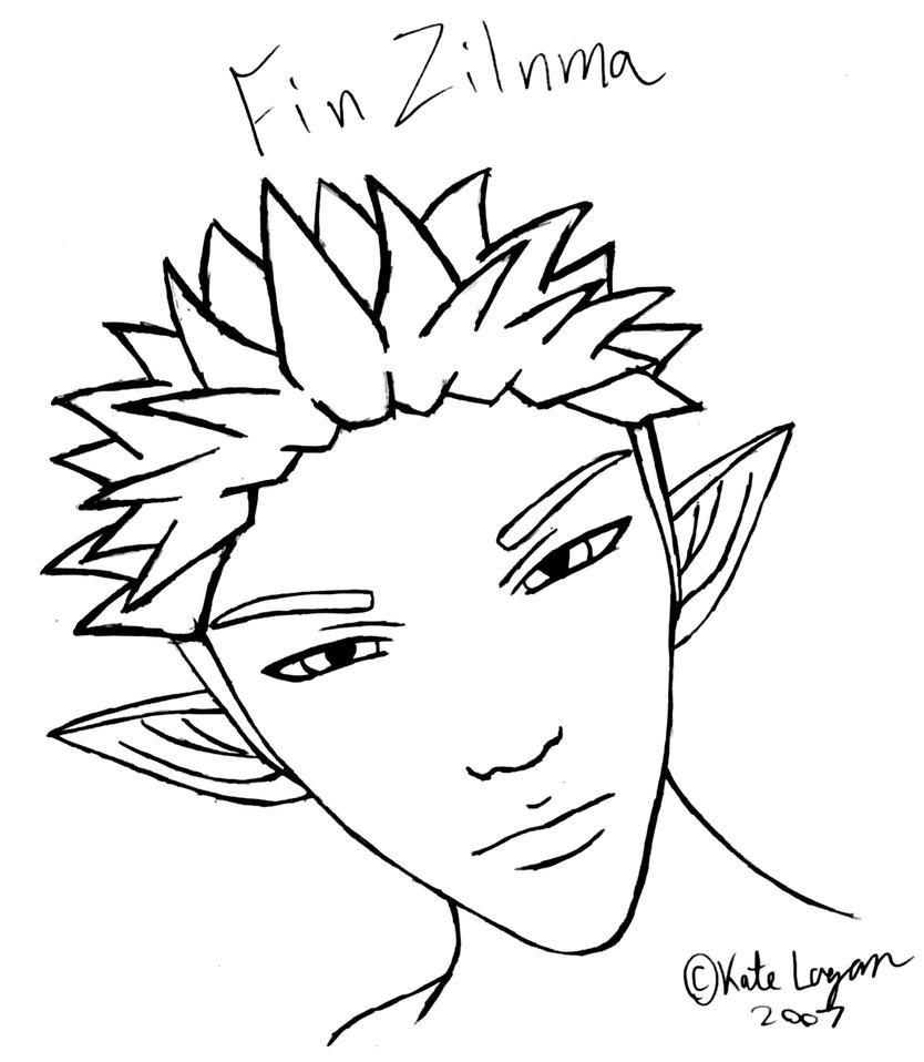 Fin Head Sketch by Cei-Ellem