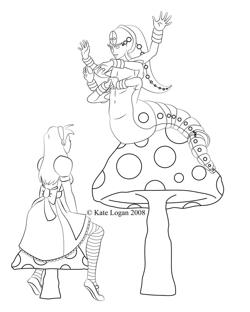 Alice and the Caterpillar WIP by Cei-Ellem