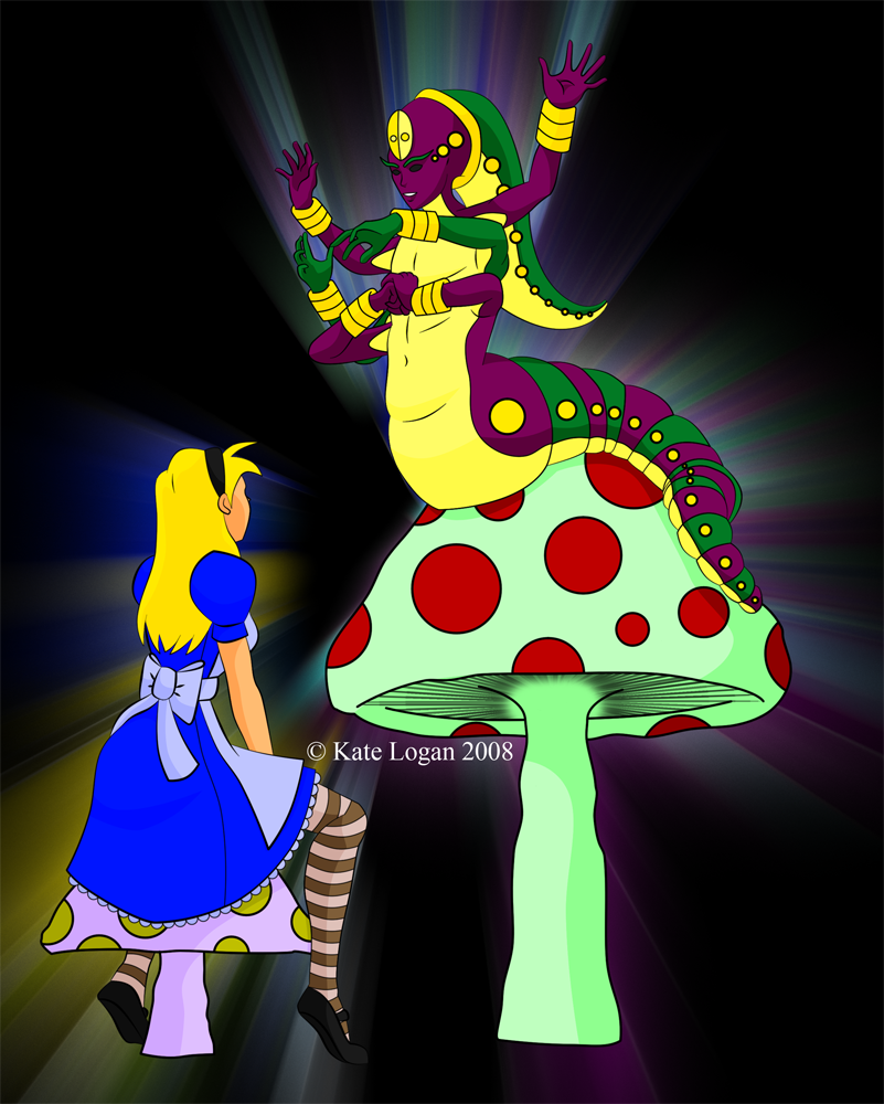 Alice and the Caterpillar by Cei-Ellem