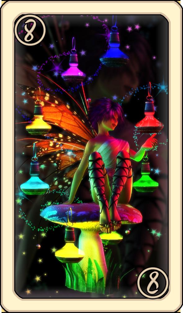 SS Tarot - Eight of Lanterns by Cei-Ellem