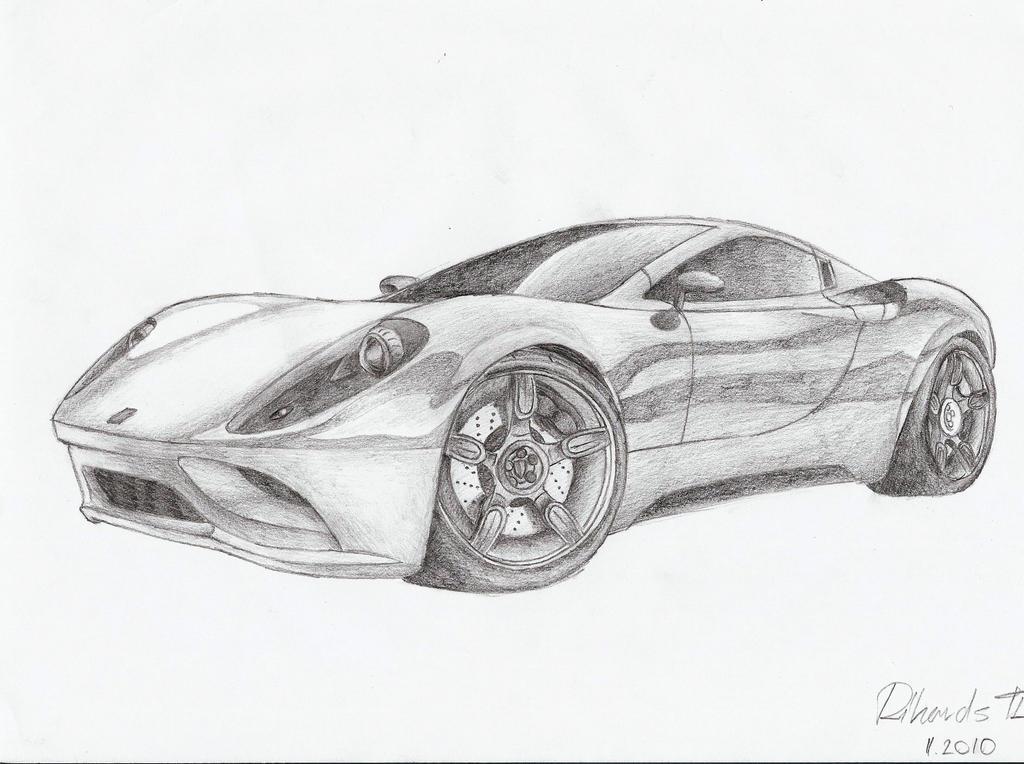 how to draw ferrari 458