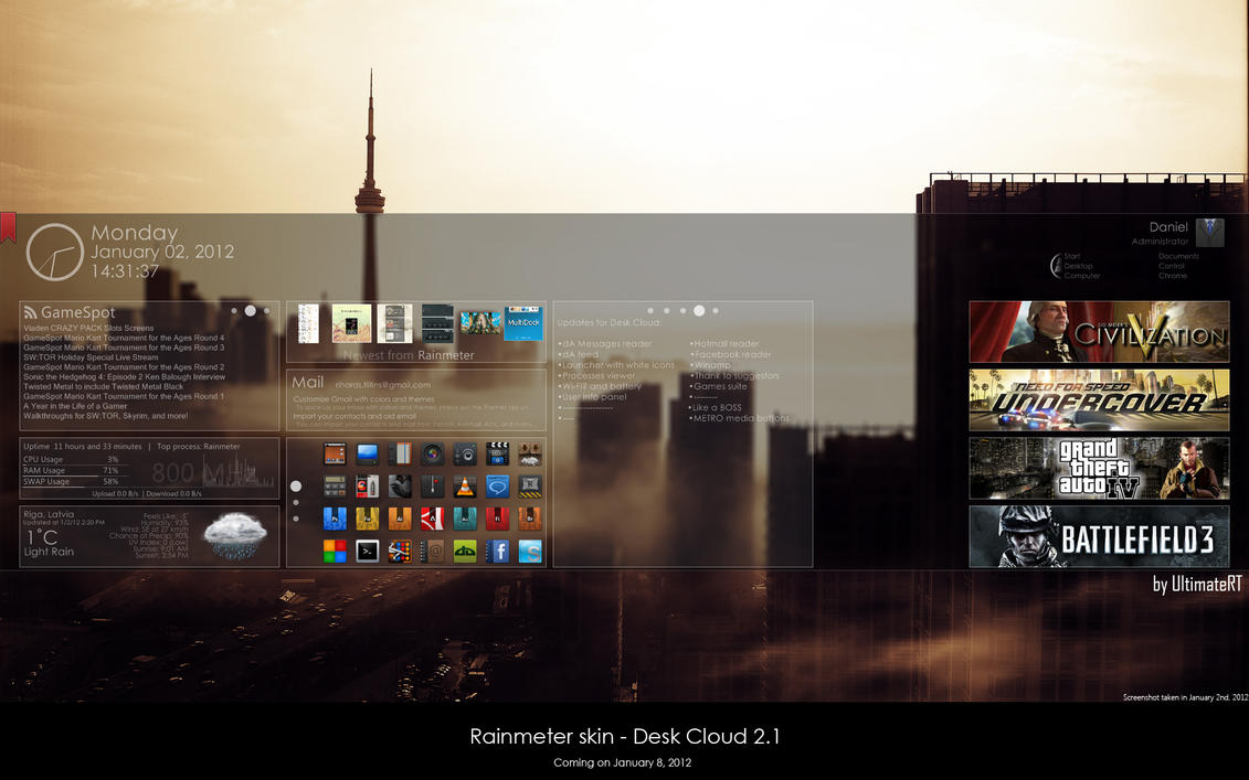Desk Cloud 2.1 ::WIP2:: by UltimateRT