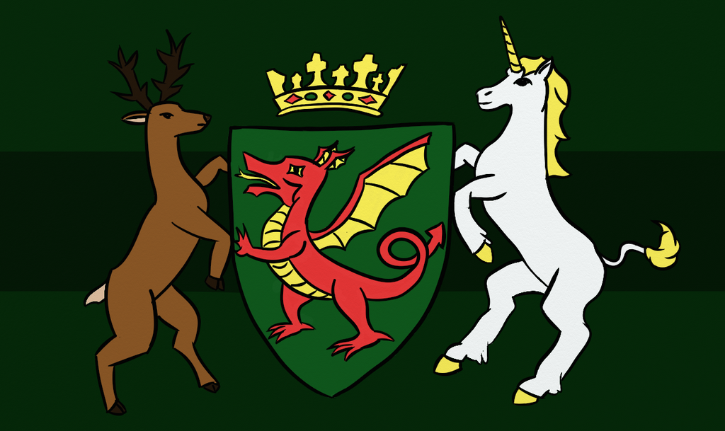 Coat of Arms of the Kingdom of Himania (Redo) by Turtlgandalf