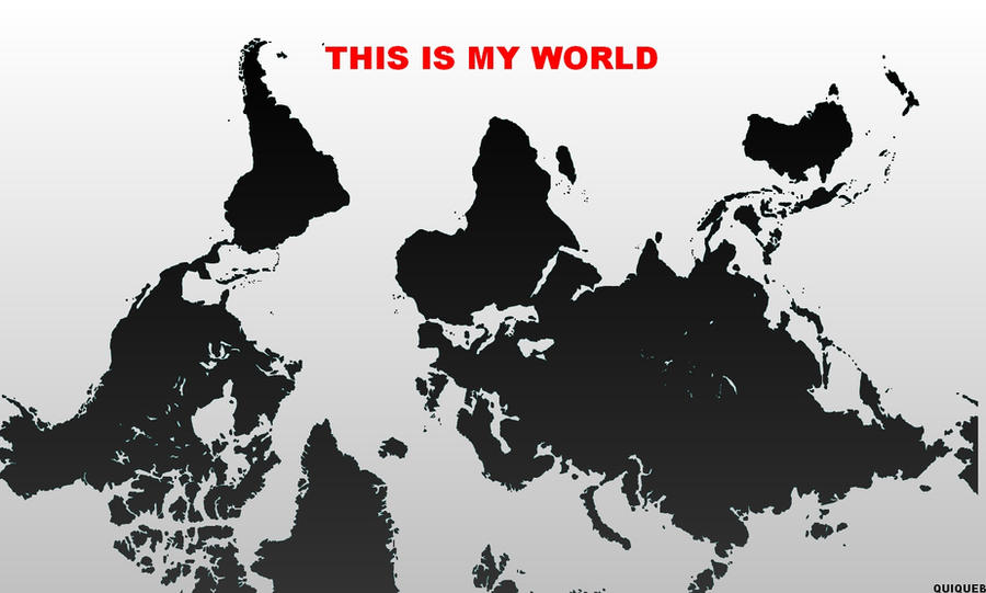 My world upside down map by jamaicavb on deviantart my world upside down map by jamaicavb sciox Images