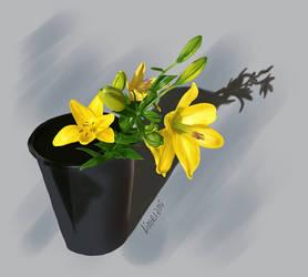 Flower realism study by Limerami