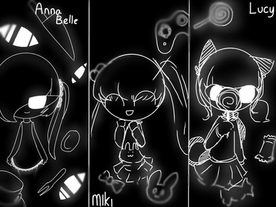 Cat trio by NNa113
