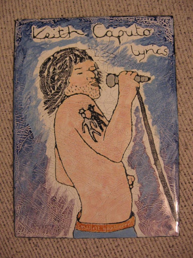 Keith Caputo Lyrics Book cover by Mandula