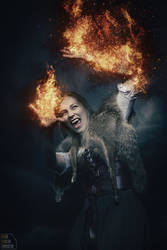 Burning Vampire by kschenk