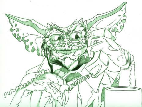 Gremlins - The New Batch - Brain - loose Line art