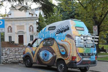 Magical mystery van stock
