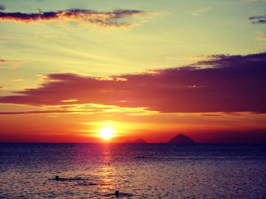 Dawn at Beach - Vintage by WillTC