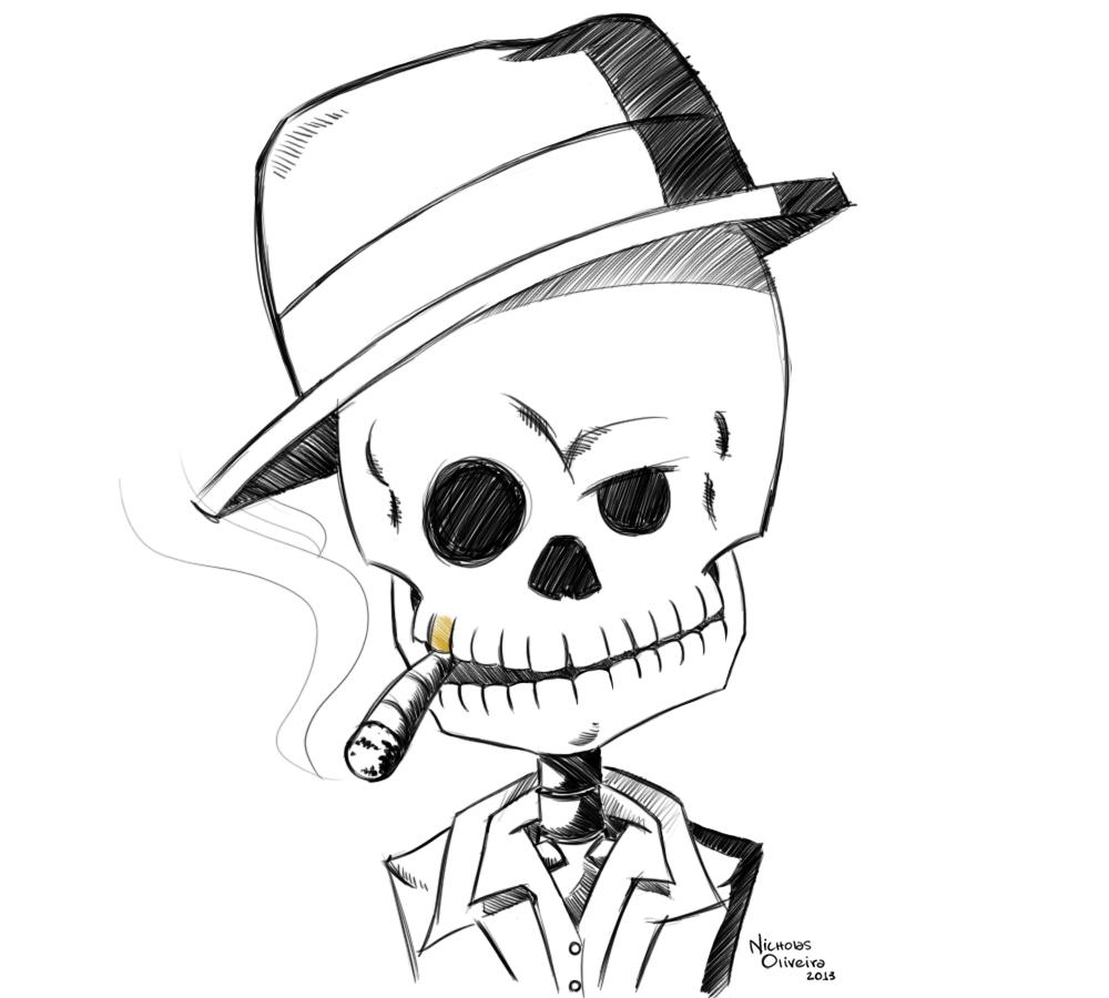 Открыткой, крутые рисунки для пацанов карандашом скелеты